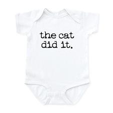 The Cat Did It Infant Bodysuit