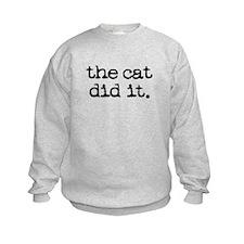 The Cat Did It Sweatshirt