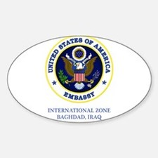 US Embassy - Baghdad Oval Decal