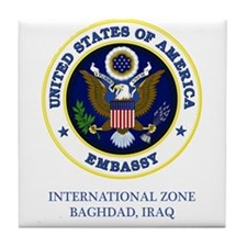 US Embassy - Baghdad Tile Coaster