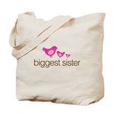 biggest sister t-shirts birdie Tote Bag