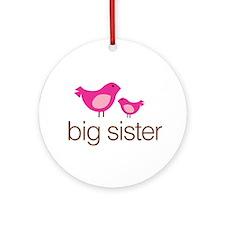 matching big sister t-shirt birdie Ornament (Round