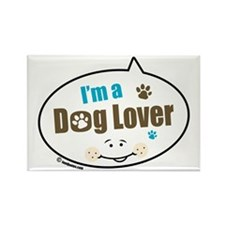 Dog Lover Rectangle Magnet