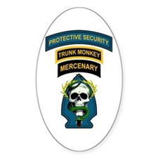 Private Security Contractor Oval Decal