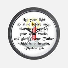"""Let Your Light So Shine"" Wall Clock"