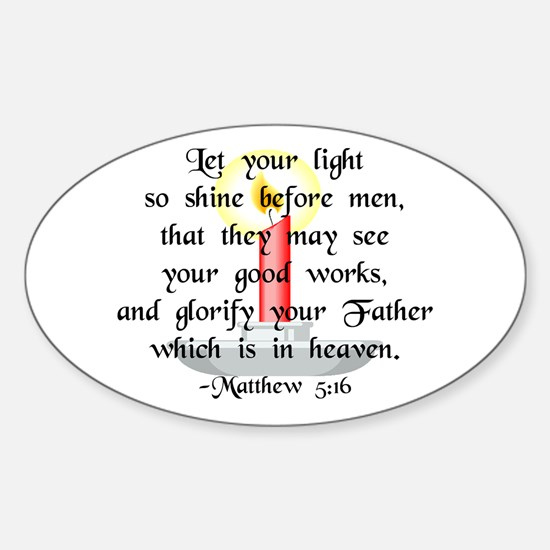 """Let Your Light So Shine"" Oval Decal"