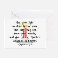 """""""Let Your Light So Shine"""" Greeting Cards (10pk)"""