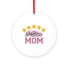 5-star Mom Ornament (Round)