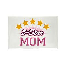 5-star Mom Rectangle Magnet