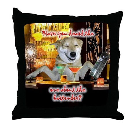Bartender Throw Pillow