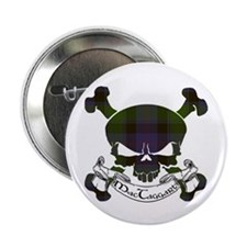 "MacTaggart Tartan Skull 2.25"" Button"