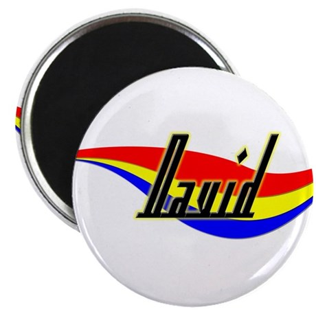 "David's Power Swirl Name 2.25"" Magnet (100 pack)"