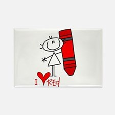 I Love Red Rectangle Magnet