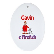 Gavin - Firefighter Oval Ornament