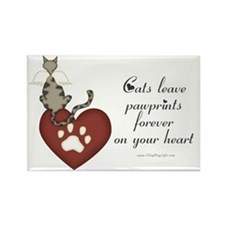 Cat Pawprints Rectangle Magnet