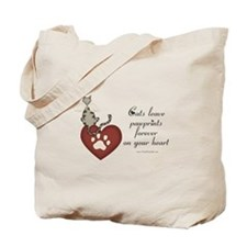 Cat Pawprints Tote Bag