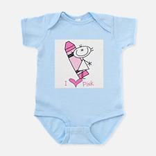 I Love Pink Infant Bodysuit
