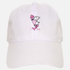 I Love Pink Baseball Baseball Cap