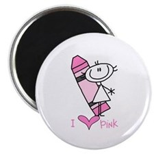 "I Love Pink 2.25"" Magnet (100 pack)"