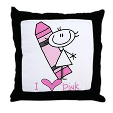 I Love Pink Throw Pillow