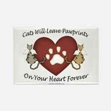 Cat Paw Prints Rectangle Magnet