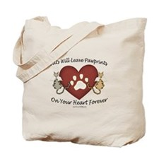 Cat Paw Prints Tote Bag