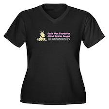 Rescue animal Women's Plus Size V-Neck Dark T-Shirt