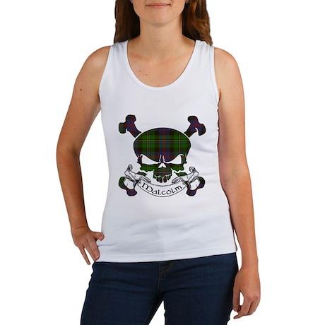 Malcolm Tartan Skull Women's Tank Top