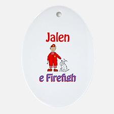 Jalen - Firefighter Oval Ornament