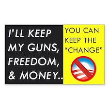 I'll Keep My Guns, Freedom, & Money Bumper Sti