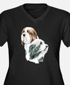 Beardies Women's Plus Size V-Neck Dark T-Shirt