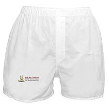 Unique White rescue dog Boxer Shorts