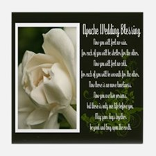 Traditional Apache Wedding Blessing Tile Coaster