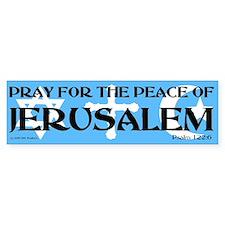 Pray for Jerusalem Bumper Bumper Bumper Sticker