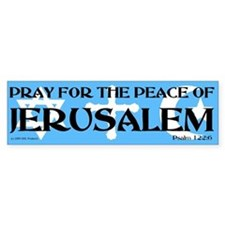 Pray for Jerusalem Bumper Car Sticker
