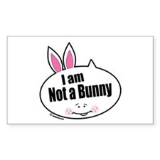 Not a Bunny Funny Rectangle Decal