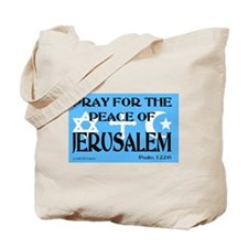 Pray for Jerusalem Tote Bag