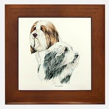 Bearded Collies, Beardie dogs Framed Tile