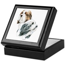 Bearded Collies, Beardie dogs Keepsake Box