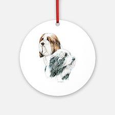 Bearded Collies, Beardie dogs Ornament (Round)