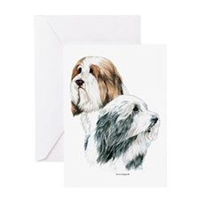 Bearded Collies, Beardie dogs Greeting Card