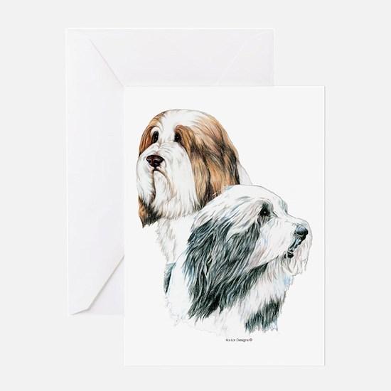Bearded Collies, Beardie dogs Greeting Card