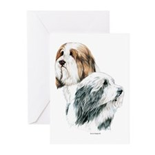 Bearded Collies Beardies Greeting Cards (Pk of 20)