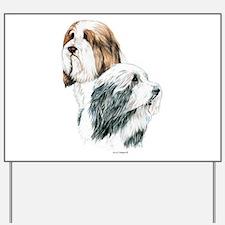 Bearded Collies, Beardie dogs Yard Sign