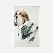 Bearded Collies, Beardie dogs Rectangle Magnet