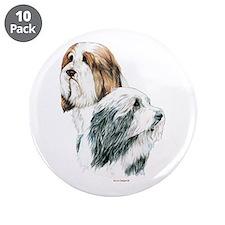 "Bearded Collies Beardie dogs 3.5"" Button (10"