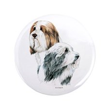 "Bearded Collies, Beardies 3.5"" Button (100 pa"