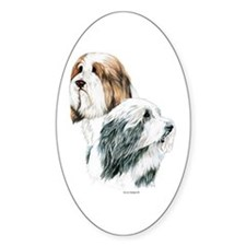 Bearded Collies, Beardie dogs Oval Decal