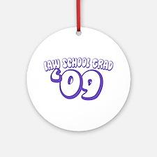 Law School Grad 09 (Purple Bubble) Ornament (Round