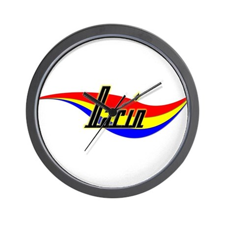 Darin's Power Swirl Name Wall Clock